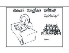 What Begins With? Alphabet Letters Worksheet