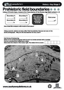 Prehistoric Field Boundaries Worksheet