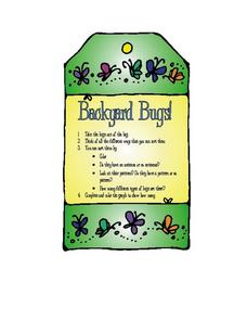 Backyard Bugs! Worksheet