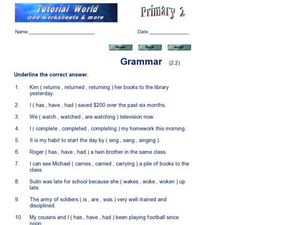 Grammar (2.2) Worksheet