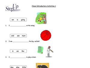 Introductory Cloze Activities Worksheet