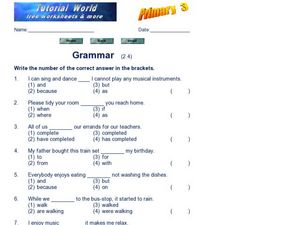 Grammar  (2.4) Worksheet