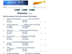 Grammar 5 Worksheet