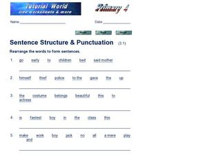 Sentence Structure & Punctuation 3.1) Worksheet