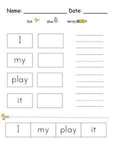 Words Recognition Worksheet