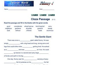 Close Passage  (4.1) Worksheet
