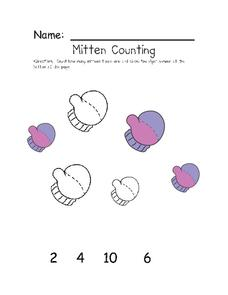 Mitten Counting Worksheet