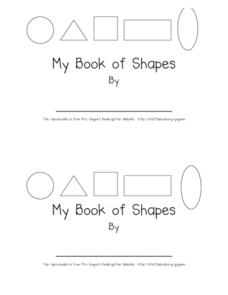 My Book of Shapes Worksheet