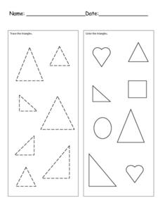 Triangle Practice Worksheet