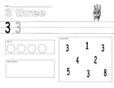 The Number 3 Worksheet Worksheet