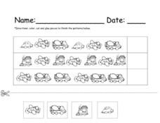 Working With Simple Patterns Worksheet