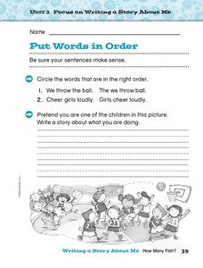 Put Words in Order Worksheet