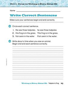 Write Correct Sentences: Punctuation Worksheet