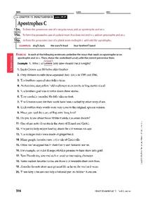 Apostrophes C Worksheet