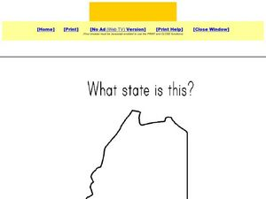 What State is This? Dot to Dot - Maine Worksheet