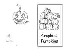 Mini Book: Pumpkins, Pumpkins Worksheet