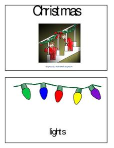 Christmas Words Mini-Book Worksheet