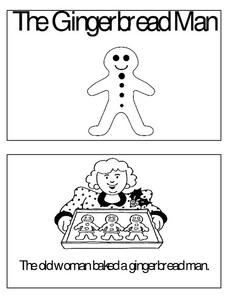 The Gingerbread Man Mini-Book Worksheet