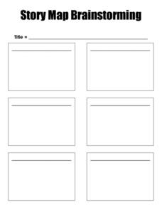 Story Map Brainstorming Worksheet