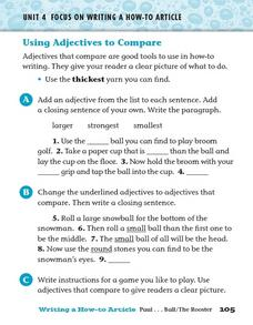 Using Adjectives to Compare Worksheet