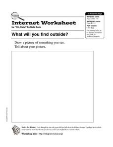 What Will You Find Outside? Internet Worksheet Worksheet