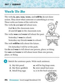 Verbs To Be Worksheet