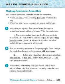 Making Sentences Smoother Worksheet
