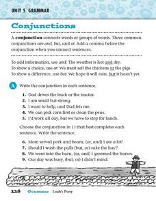 Conjunctions: And, But, and Or Worksheet