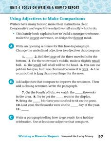 Using Adjectives to Make Comparisons Worksheet