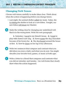 Changing Verb Tenses Worksheet