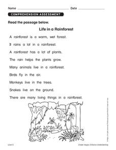 Rainforest Snakes Lesson Plans & Worksheets Reviewed by