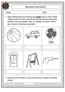 Movement and Safety Worksheet