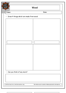 What Is Made From Wood? Worksheet