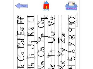 Alphabet and Numbers Tracing Worksheet