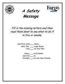 A Safety Message Worksheet