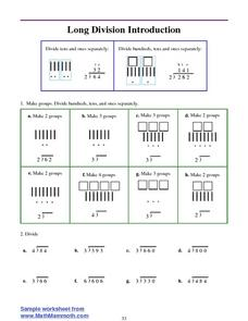 Long Division Introduction Worksheet