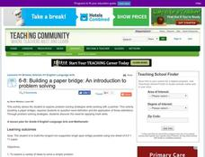 Building a Paper Bridge: an Introduction To Problem Solving Lesson Plan