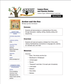 The Archer and the Sun Lesson Plan