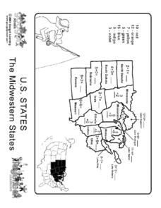 U.S. States - The Midwest States Worksheet