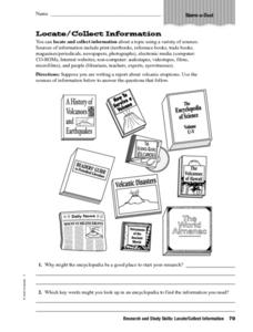 Collecting Information Worksheet