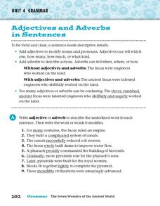 Adjectives and Adverbs in Sentences Worksheet