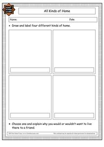 All Kinds of Homes Worksheet