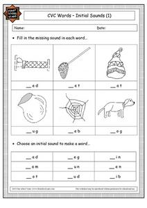 CVC Words - Initial Sounds (1) Worksheet