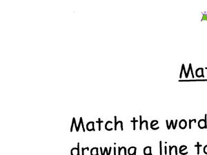 Picture/Word Matching Worksheet