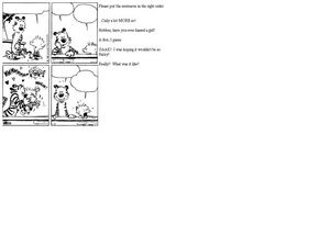 Comic: Put the Sentences In Order Worksheet