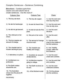 Sentence Structure Lesson Plans & Worksheets | Lesson Planet