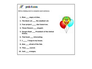 Linking Verbs 2 Worksheet For 2nd 4th Grade Lesson Planet