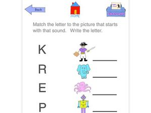 Match the Letter to the Picture Worksheet