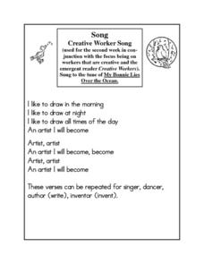 Creative Worker Song Worksheet