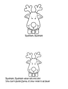 Rudolph, Rudolph Worksheet